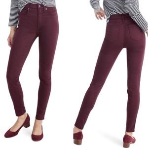 [Madewell] High Riser Skinny Maroon Red Jeans